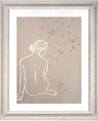 Clare Cutts Girl with butterflies